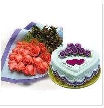 鲜花蛋糕组合1