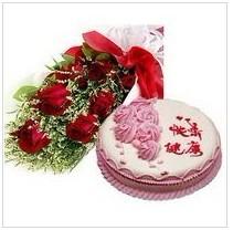 鲜花蛋糕组合3
