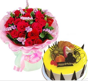 鲜花蛋糕惊喜