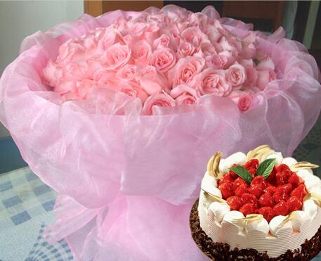 鲜花蛋糕爱你
