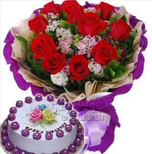 鲜花蛋糕礼物