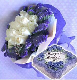 蛋糕鲜花我爱你