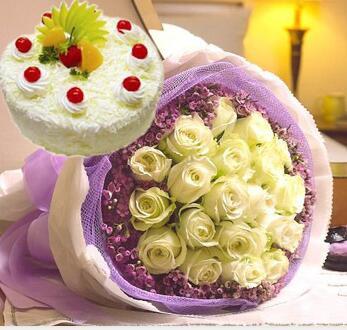 白玫瑰蛋糕组合
