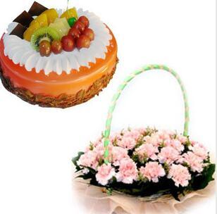 鲜花蛋糕感恩