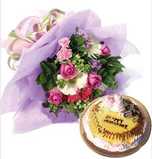 鲜花蛋糕真善美