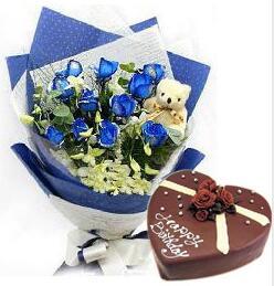 蓝玫瑰蛋糕组合