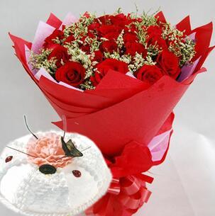 鲜花蛋糕001
