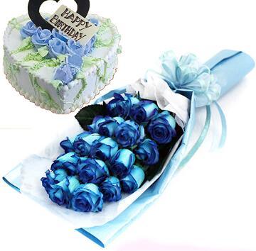 蓝色妖姬蛋糕