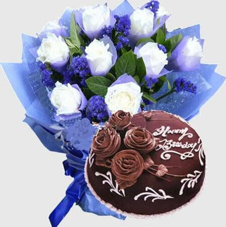 鲜花蛋糕组合09