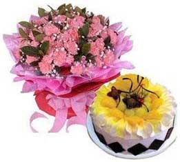 鲜花蛋糕送祝福语