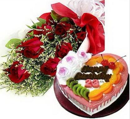 鲜花蛋糕组合2