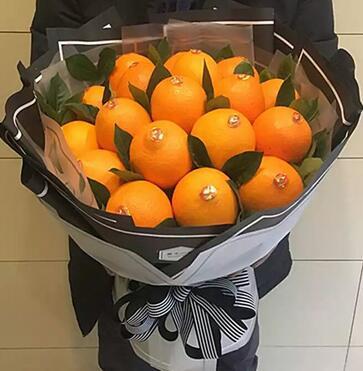 创意橙子水果花束