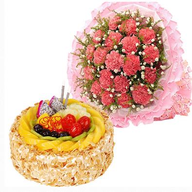 鲜花蛋糕思念