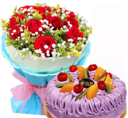 鲜花蛋糕想念你