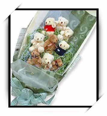 可爱熊花束4