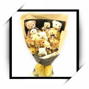 可爱熊花束7