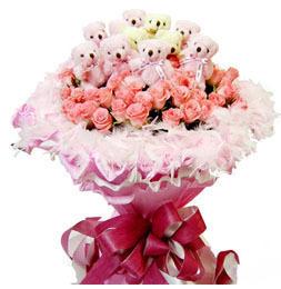 33朵粉玫瑰11