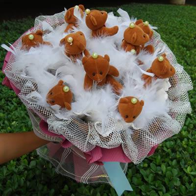 棕熊宝宝花束